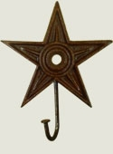 Cast Iron Star - 6 inch with Hook