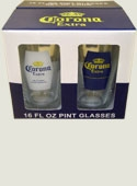 Corona Mixed Logo Glass Set