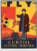 Curtiss Flying Service Magnet