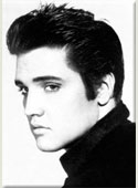 Elvis Black and White Magnet