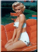 Marilyn Lounge Chair Magnet