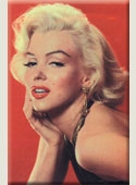Marilyn Red Background Magnet