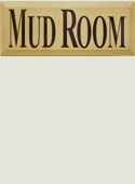 Mud Room Wooden Sign