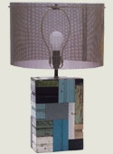Patchwork Wood Lamp