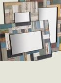 Patchwork Wood Mirrors