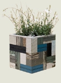 Patchwork Wood Planters