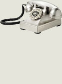 Retro Desk Phone (silver)