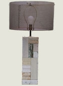 Tall Patchwork Lamp