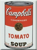 Warhol White / Red Soup Can Magnet