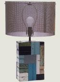 Patchwork Wood Lamp